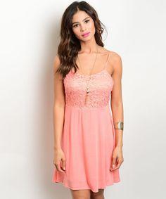 a9f398ff05 Salmon Lace Babydoll Dress. viXXen Clothing · Skater Dresses