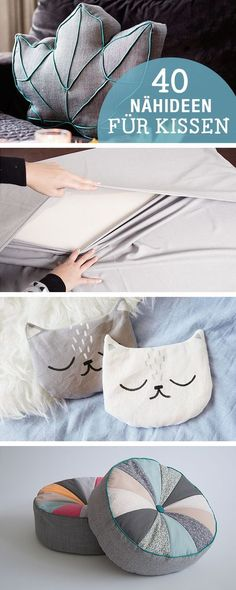 DIY-Anleitungen: 40 Nähideen für Kissen, DIY-Inspiration / diy sewing tutorials for cushion, crafting home decor via DaWanda.com #DIYHomeDecorSewing