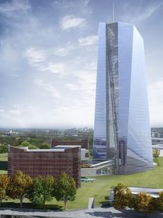 European Central Bank Tower, Frankfurt, Germany, Architect by Coop Himmelb(l)au