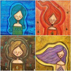 New in my curious #shop Elemental Art - earth air water fire Find them under new products at http://ift.tt/2s9SWnX #createdwithlove #creativity #art #arty #art #artist #artwork #artistsoninstagram #artstagram #artforsale #artofinstagram #magic #magical #mindful #mixedmedia #mixedmediaart #originalart #smallbusinessowner #handmade #entrepreneur #cute #whimsy #whimsical #acatlikecuriosity