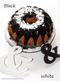Malinowa-Kawiarenka: Babka Black & White Birthday Cake, Black And White, Ethnic Recipes, Desserts, Food, Tailgate Desserts, Deserts, Black N White, Birthday Cakes