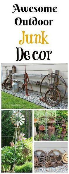 Awesome Outdoor Junk Gardens www.organizedclutter.net