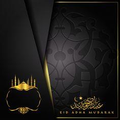 Eid adha mubarak greeting card with beautiful arabic calligraphy Eid Mubarak Greeting Cards, Eid Cards, Eid Mubarak Greetings, Eid Wallpaper, Eid Mubarak Wallpaper, Islamic Gifts, Islamic Art, Eid Adha Mubarak, Ramadan Images