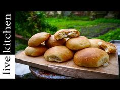 YouTube Halumi Cheese Recipes, Sweets Recipes, Cheese Ball, Greek Recipes, Kitchen Living, Pretzel Bites, Baked Potato, Vegetables, Cooking
