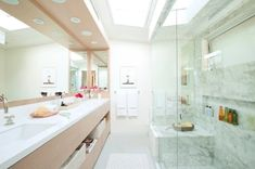 Double Vanity Bathroom Mirrors: Ideas and Inspiration | Hunker Open Shelving, Bathroom Styling, Double Vanity Bathroom, Double Mirror Vanity, Vanity, Floating Vanity, Mirror, Bathroom Farmhouse Style, Bathroom