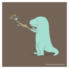 Doodle Everyday 2014/006 Selfie Dino by Lim Heng Swee aka ilovedoodle http://www.ilovedoodle.com