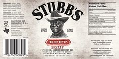 Working at Stubb's I re-worked their current labels to be Canadian versions with 2 languages.