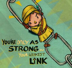 You're Only As Strong - My HS band director used to say this all the time!