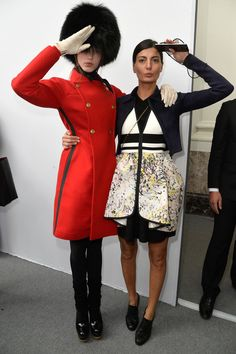 Giovanna Battaglia - Moncler Gamme Rouge Fall 2015 show - March 11, 2015
