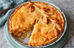 The traditional cheese pie gets a makeover with seasonal leeks and an oozy mix of cheddar and Cheshire cheeses. Find this cheese and onion pie, and loads more pie recipes, at Tesco Real Food. Cheese And Onion Pie, Cheese Pies, Cheese Food, Pie Recipes, Real Food Recipes, Cooking Recipes, Tesco Real Food, Food And Drink, Baking