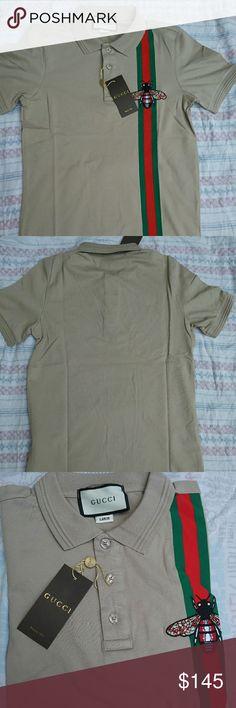 ????20% offf????GUCCI POLO SHIRT New with TAG GUCCI MEN POLO TSHIRT Gucci Shirts Polos