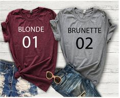 Best Friend Shirts, BFF, Bestie, Blonde Friend, Brunette Friend, Best Friends Forever