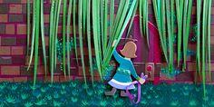 Rainy Day Adventure Hidden Door Secret by Amalia Hillmann of The Eclectic Illustrator Old Brick Wall, Old Bricks, Love Art, Paper Cutting, Original Art, The Secret, Old Things, Etsy Shop, Adventure