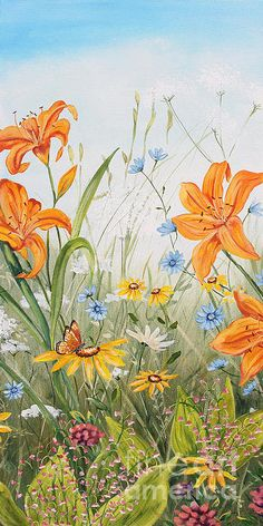 Wildflowers-jp3249 Print By Jean Plout