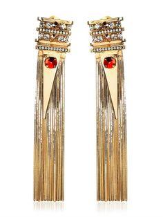 IOSSELLIANI - FRINGE SPIKE CLIP EARRINGS Jewelry Box, Jewelery, Fine Jewelry, Women Jewelry, Unique Jewelry, Clip On Earrings, Pierced Earrings, Iosselliani, Golden Goddess