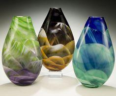 Rosetree Teardrop Art Glass Vase
