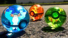 The Pokeballs of Hoenn Mega Starters by Jonathanjo on deviantART