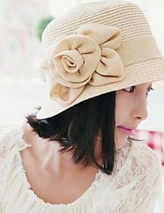 flores chapéu de palha das mulheres