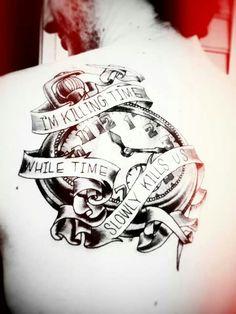 Clocks - Oceans Ate Alaska tattoo *-*
