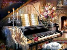 Старый рояль. Картинки для декупажа