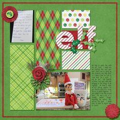 elf on the shelf scrapbook layouts | Elf - Scrapbook.com