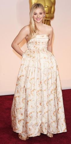 Academy Awards 2015 Red Carpet Arrivals - ChloëGrace Moretz from #InStyle in Miu Miu