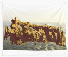 Lost engine on a beach. • Also buy this artwork on home decor, apparel, stickers, and more.