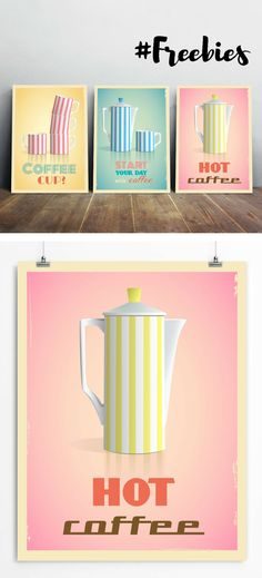 Free Coffee Wall Art Printable. Use them to decorate your kitchen and dining room, children's room, living room and any other interior for your taste. I'll be happy if you like my posters and you'll find them applying in your home or office. Do not hesitate to share this post link with your friends if you know that they can enjoy my art too. Download on restylegraphic.com/blog