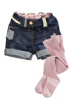 Buy Dark Denim Short And Tights Set (3mths-6yrs) from the Next UK online shop
