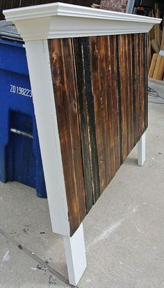 recycled pallet headboard More