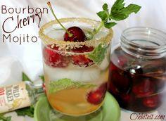 Bourbon Cherry Mojito! http://www.ohbiteit.com/2012/06/bourbon-cherries-deliciously-drunken-delights.html