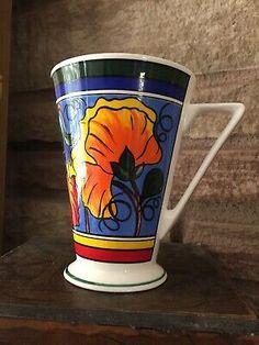 "Wren Giftware ""Walled Garden"" Abstract Bright Colour Floral Mug. Fine China  | eBay Walled Garden, Wren, Fine China, Selling On Ebay, Bright, Colour, Mugs, Abstract, Tableware"