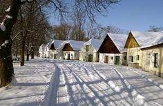 Eine typische Kellergasse im Weinviertel im Winter Hotels, Vienna Austria, Salzburg, Warm And Cozy, Cabin, House Styles, Winter, Places, Celebration