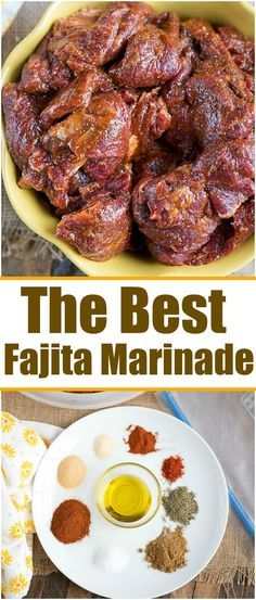 The best fajita marinade recipe is here for you to enjoy! If you're obsessed wit… The best fajita marinade recipe is here for you to enjoy! If you're obsessed with fajitas like we are we're sharing the best beef marinade secret with you! Best Steak Fajitas, Pork Fajitas, Authentic Mexican Recipes, Meat Recipes, Mexican Food Recipes, Recipies, Dinner Recipes, Mexican Meals, Mexican Dishes
