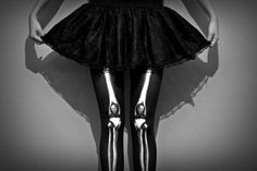 Skeleton goth tights oh so scene