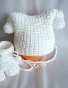 Free Knitting Pattern for I'm Crochet Baby Beanie, Knit Baby Dress, Baby Hats Knitting, Crochet Baby Clothes, Knitting For Kids, Loom Knitting, Knit Crochet, Crochet Hats, Free Knitting