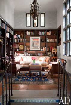 Rustic Office/Library in Hollywood Hills, California