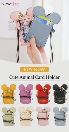 Special 2  US 15.98 Women Cute Animal Shape Card Holder Wallet Purse Neck cec7a64157e0a