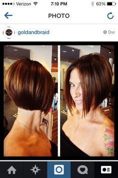 Sassy A line bob  by Rene Olson Gold & Braid Salon Mission Viejo, CA