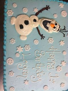 Frozen Olaf cake                                                                                                                                                      More