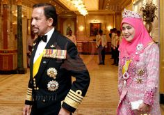 The Sultan of Brunei's Birthday Banquet: HM The Queen of Brunei (15 Jul 2010) [PHOTO CREDIT: TRF] in vast numbers of rubies and diamonds