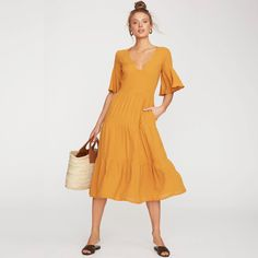 acbf48377565 Sun Kissed Diary · Products · Faithfull The Brand Melia Midi Dress in  Butterscotch