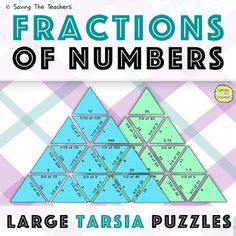 Use these entertaining math puzzles for your students to practice finding a fraction of a number. The large puzzle pieces are great to be used as a fun outdoor extension or recap activity however the small puzzles can easily be used as a full lesson activity.