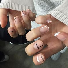 Minimaliste Nails by nail_unistella                                                                                                                                                      More