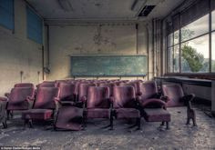 School's out… forever: Abandoned classrooms and dust-filled laboratories that were crammed with science students less than a decade ago - Stefan Dietze