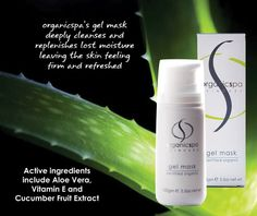 designed to deeply cleanse and replenish lost moisture leaving the skin feeling firm and refreshed. Skin Care Spa, Gel Mask, Organic Plants, Active Ingredient, Organic Skin Care, Aloe Vera, Cleanse, Vitamins, Moisturizer