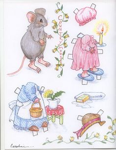 animal paper dolls | ... by Caroline Haines Burke and was in the Spring issue of Doll News 2009