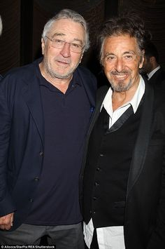 Legends: Al Pacino (R) was joined by The Godfather co-star Robert De Niro on Saturday for ...
