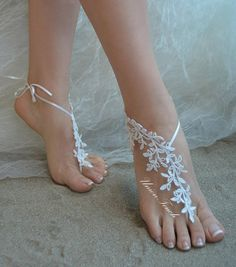 lace barefoot sandals beach wedding barefoot sandals beach barefoot lace barefoot pearly lace anklet silver frame lace anklet lace sandals Beach Shoes, Bare Foot Sandals, Anklet, Sexy Legs, Barefoot, Wedding Shoes, Trending Outfits, Unique Jewelry, Lace