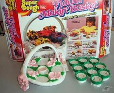 """toys OH MY GOSH -I wanted one! - the commercial said """"a tisket a tasket a flower making basket!"""" LOL I remember! 90s Childhood, My Childhood Memories, Sweet Memories, Retro Toys, Vintage Toys, 90s Toys, Making Baskets, 80s Kids, Oldies But Goodies"""